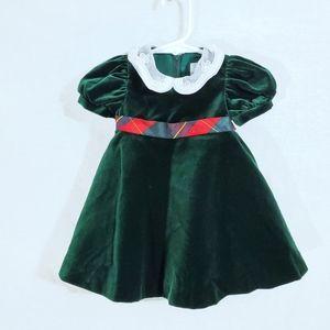 Florence Eiseman Velvet Green Christmas Dress